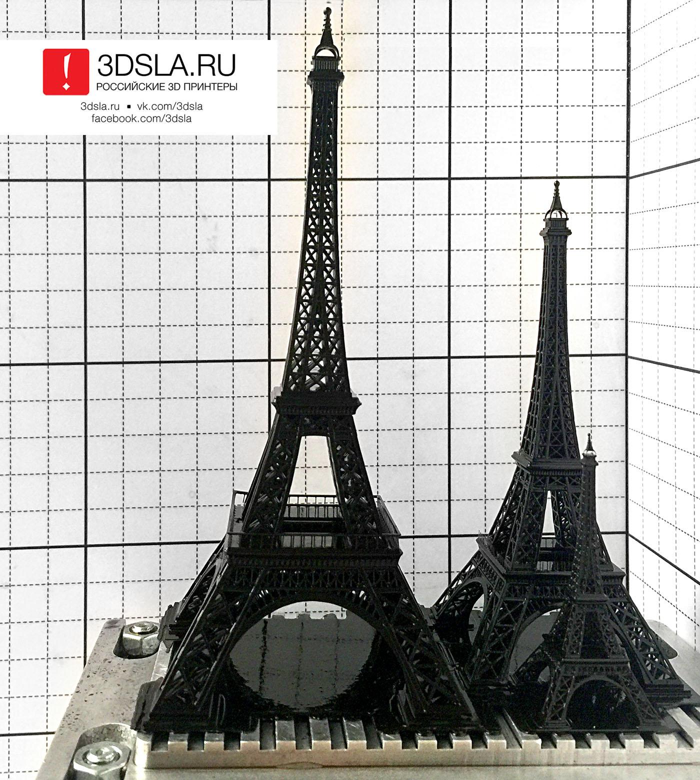 Схема эйфелевой башни крючком