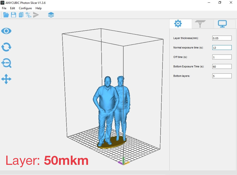 Anycubic Photon Settings 50mkm